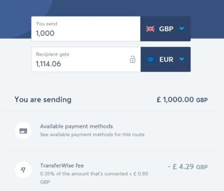 Tried TransferWise yet? GBP to Euro transfers now even