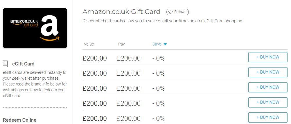 Mystery Solved How To Buy Amazon Credit On Zeek Insideflyer Uk