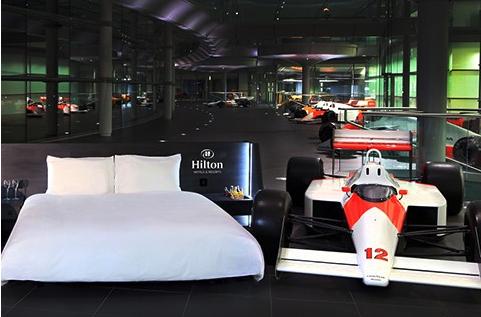 Hilton Honors McLaren Competition