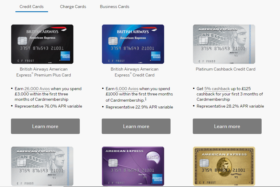 How to get much bigger american express sign up bonuses insideflyer uk at the bottom of that page though the person you refer should see the full range of american express cards and can choose any of them reheart Choice Image