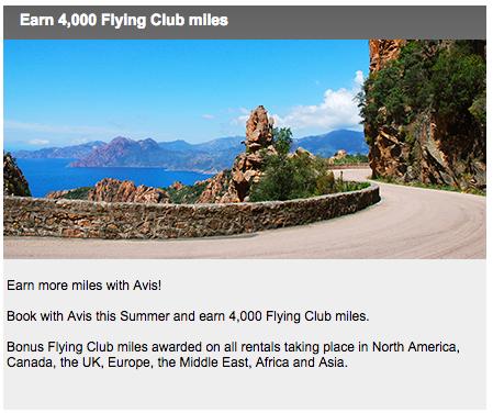 Earn 4000 Virgin Atlantic Flying Club Miles With Avis Car Hire