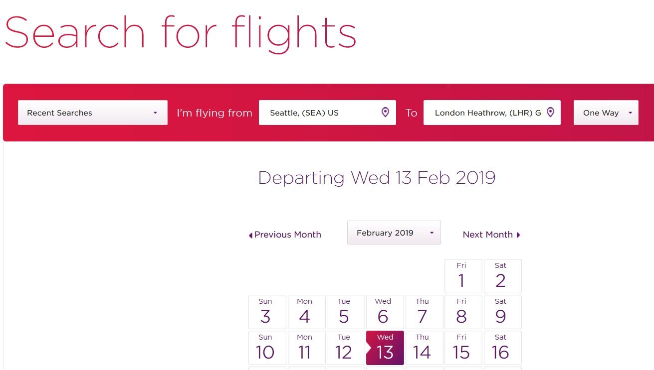 How to Hack the Virgin Atlantic Flying Club Website to