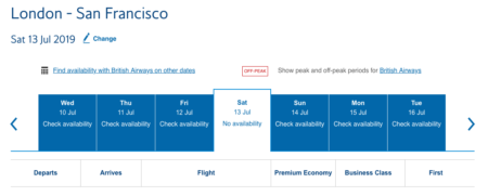 How to find Avios availability
