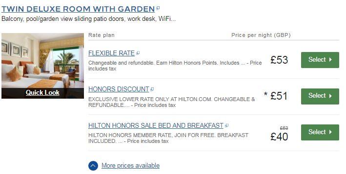 hilton deals