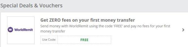 worldremit bonus