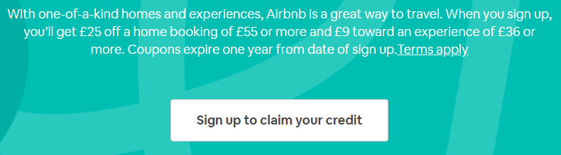 New Airbnb Sign Up Bonus - £34 Off Your First Trip