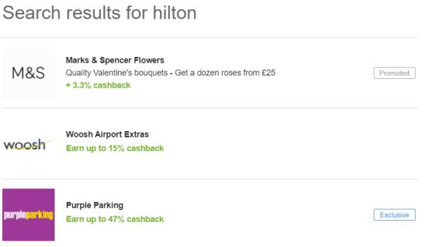 hilton cashback