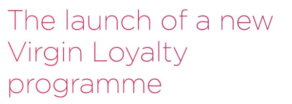 virgin loyalty programme
