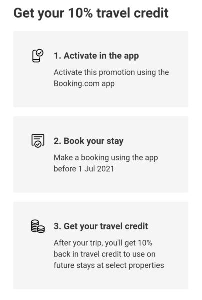 booking.com free credit